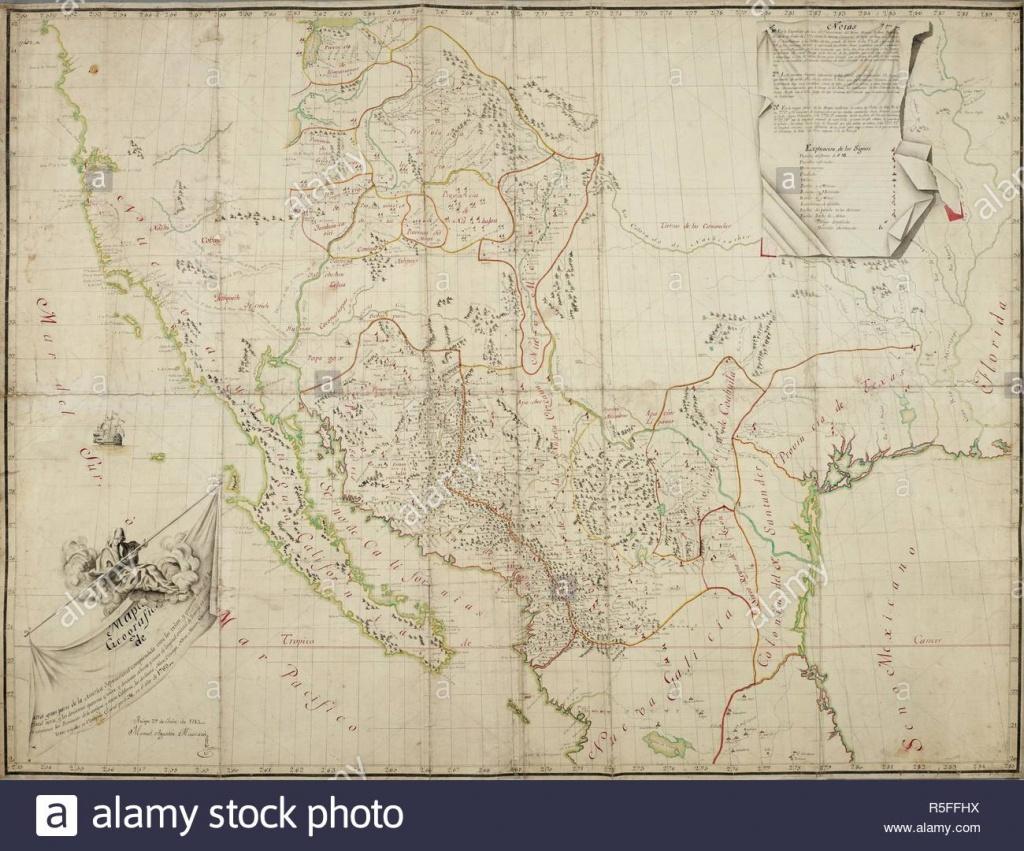 Map Of The Provincias Internas De La Commandancia De Chihuahua - Map Of Southern California And Northern Mexico