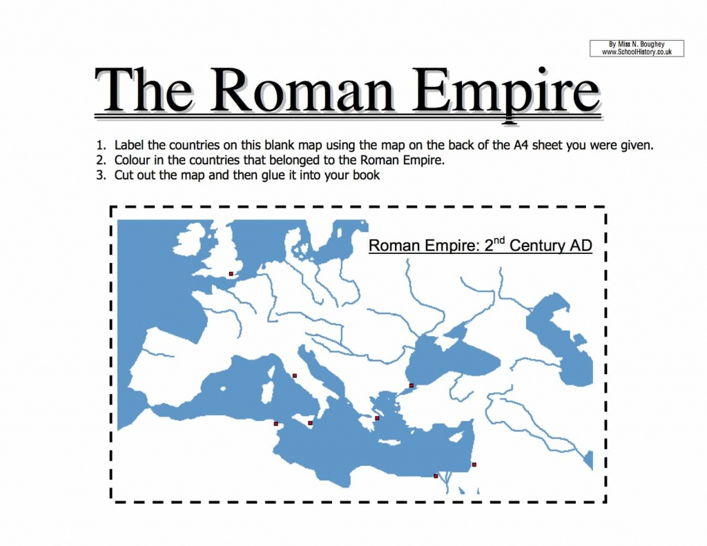 Map Of The Roman Empire Worksheet | Year 7 Pdf - Printable Map Of Ancient Rome