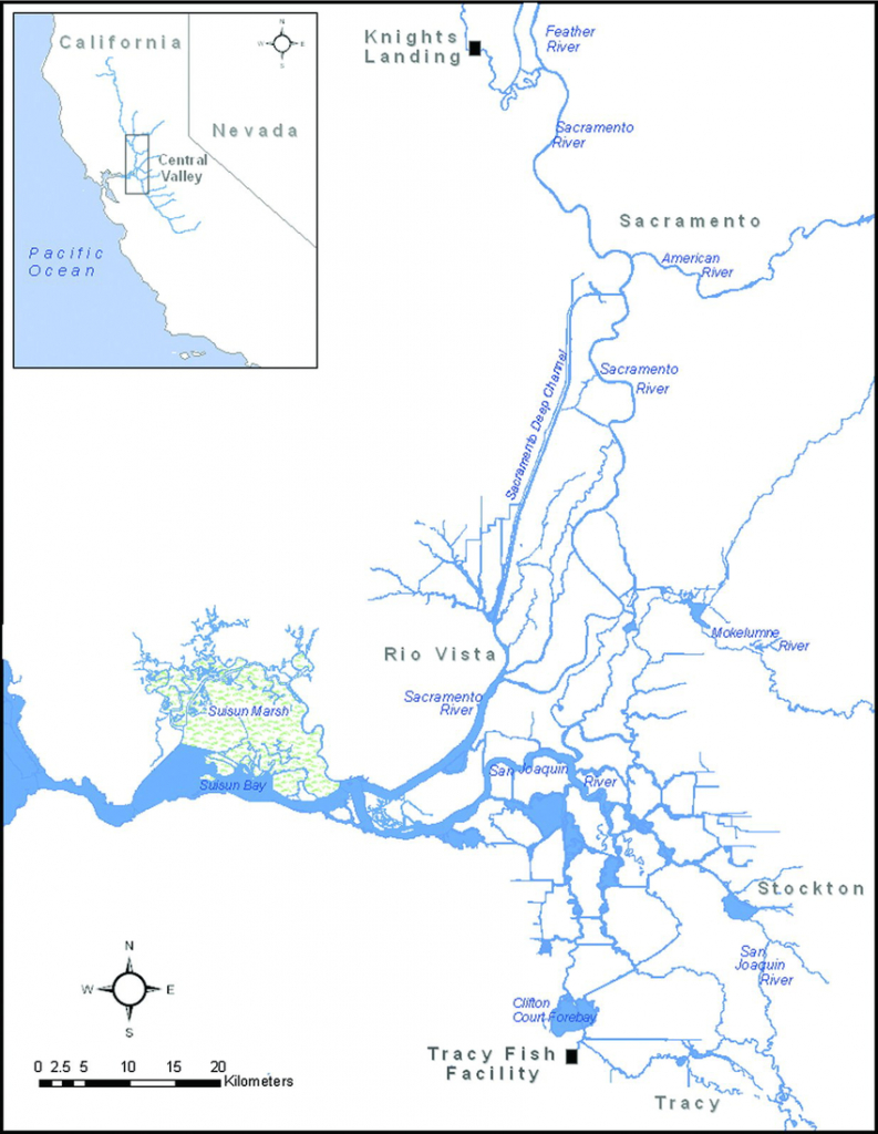 Map Of The Sacramento–San Joaquin Delta Displaying Locations Of The - California Delta Map Download
