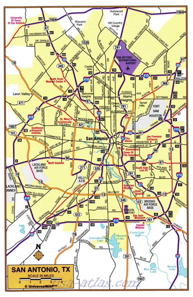 Map Of The Suburbs Of San Antonio. Detailed Map Of The Suburbs Of - San Antonio Texas Maps