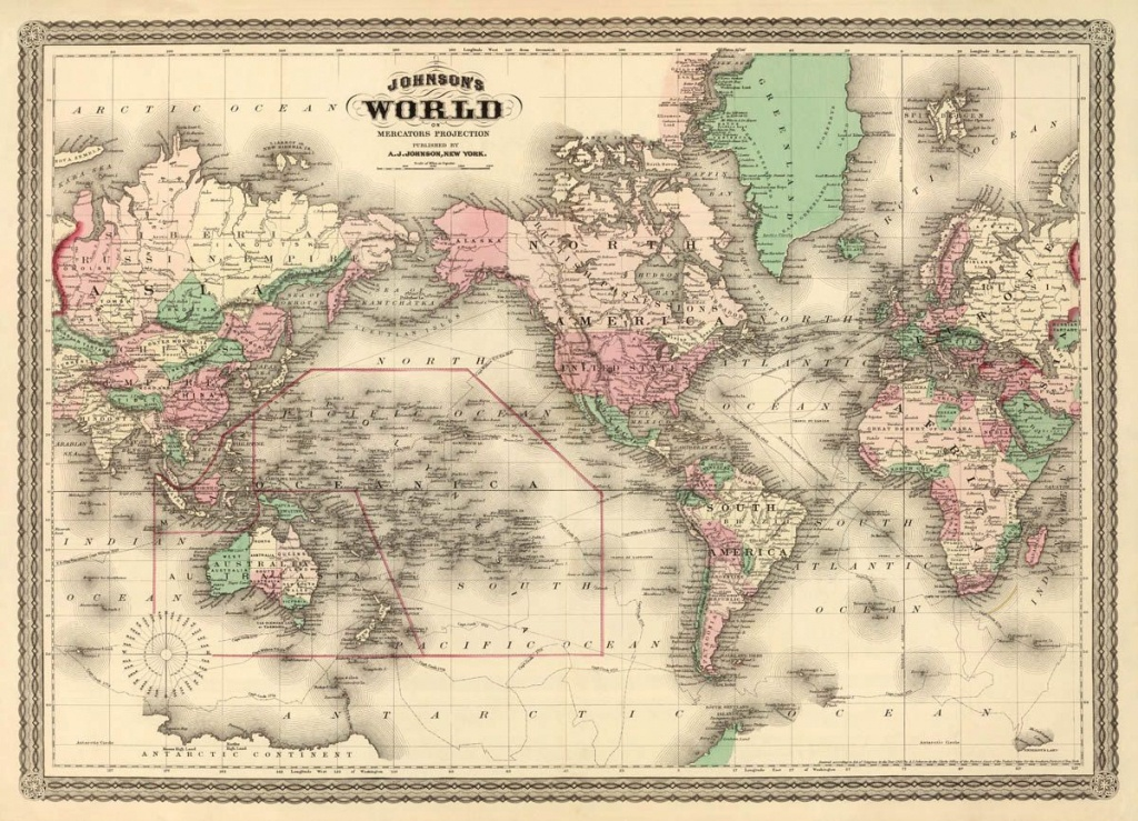 Map Of The World - World Wall Map - Vintage Map Of The World - Vintage World Map Printable