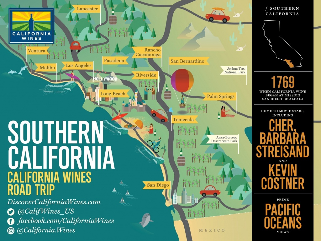 Map Of Tourist Attractions Southern California Attractions Map - California Attractions Map
