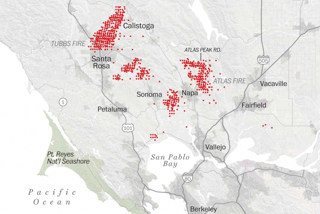 Map Of Tubbs Fire Santa Rosa - Washington Post - Fires In California 2017 Map