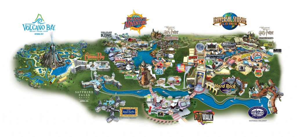 Map Of Universal City Walk, Universal Studios, Islands Of Adventure - Universal Studios Florida Park Map