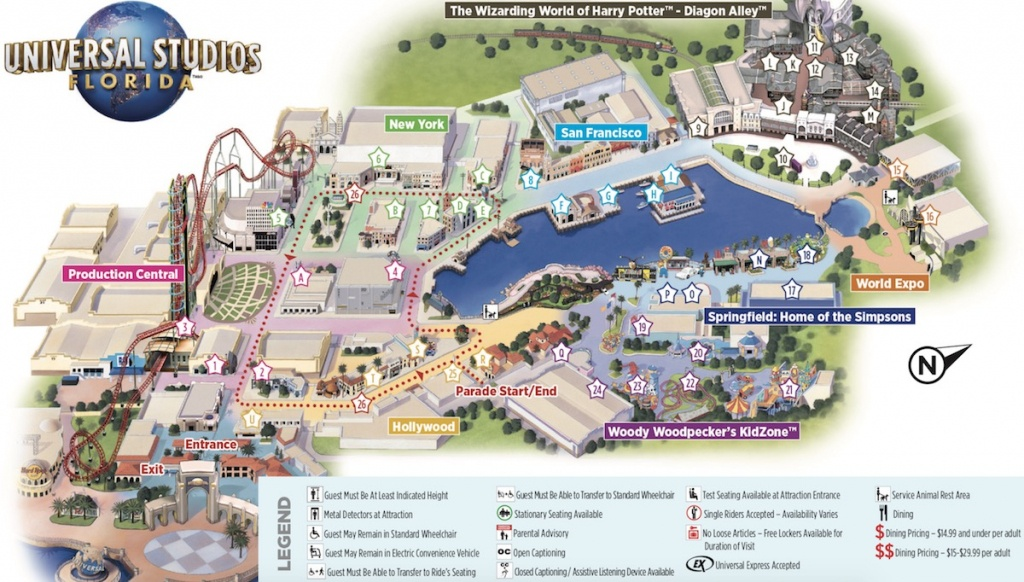 Map Of Universal Studios - Orlando Florida Universal Studios Map