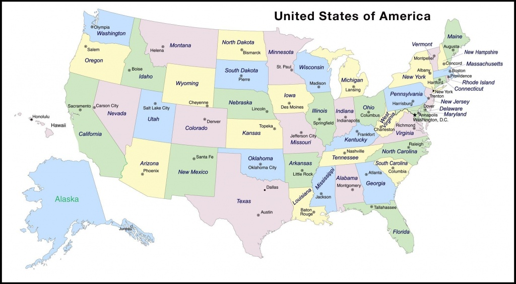 Map Of Usa State Capitals And Travel Information | Download Free Map - Free Printable Us Map With States And Capitals