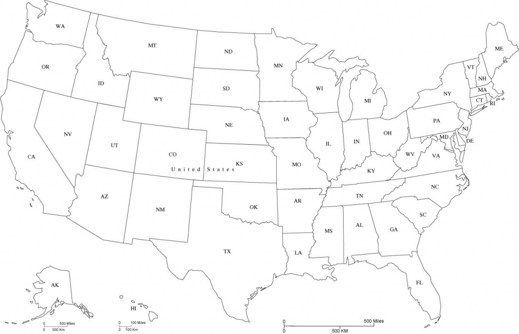 Map Of Usa States Abbreviated And Travel Information | Download Free - Printable Map Of Usa With State Abbreviations
