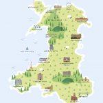Map Of Wales Printpepper Pot Studios | Notonthehighstreet   Printable Map Of Wales
