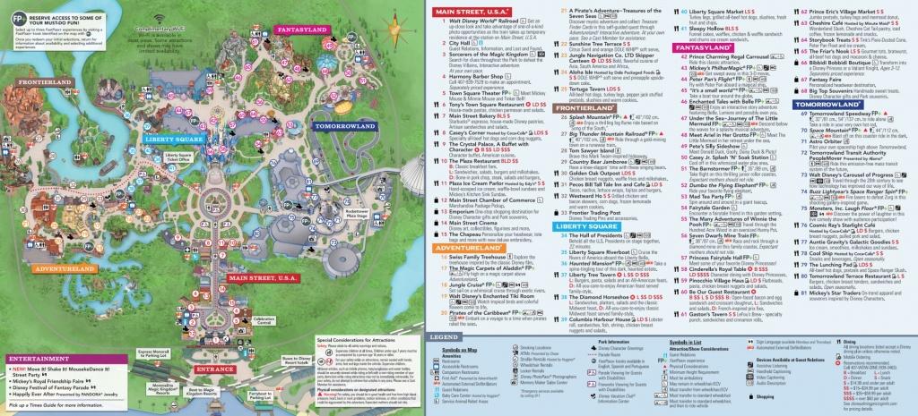 Map Of Walt Disney World - Omkarshinde - Printable Magic Kingdom Map