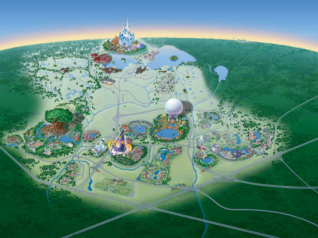 Map Of Walt Disney World Resort - Wdwinfo - Disney Resorts Florida Map