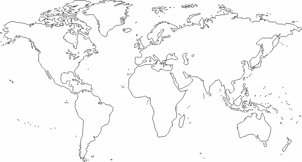 Map Of World Black And White Printable - Berkshireregion - World Map Black White Printable