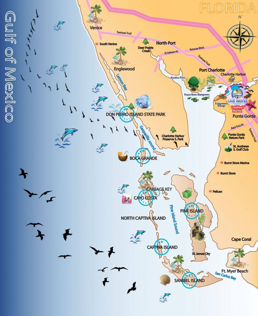 Map Out Your Next Vacation In The Florida Gulf! | Gulf Island Tours - Florida Gulf Map