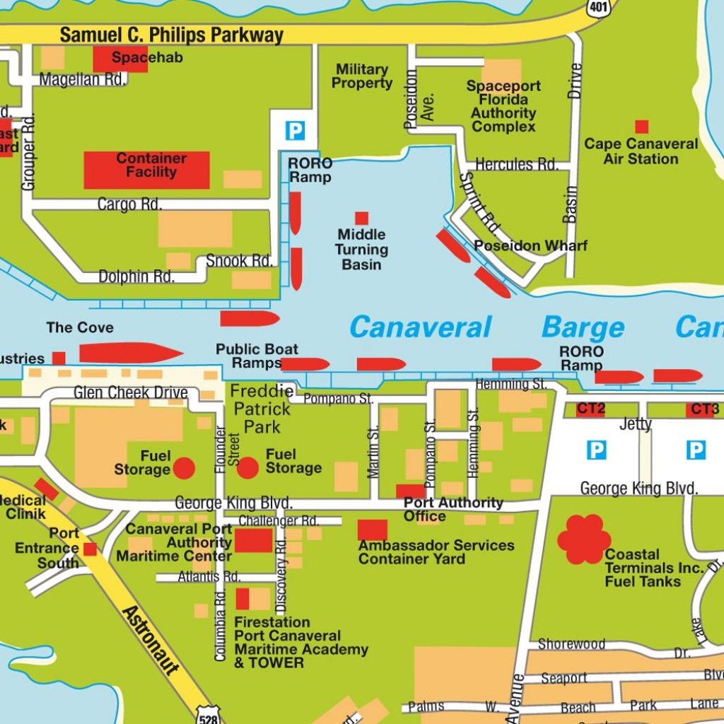 Map Port Canaveral Fl, Florida, Usa. Maps And Directions At Hot-Map. - Port Canaveral Florida Map
