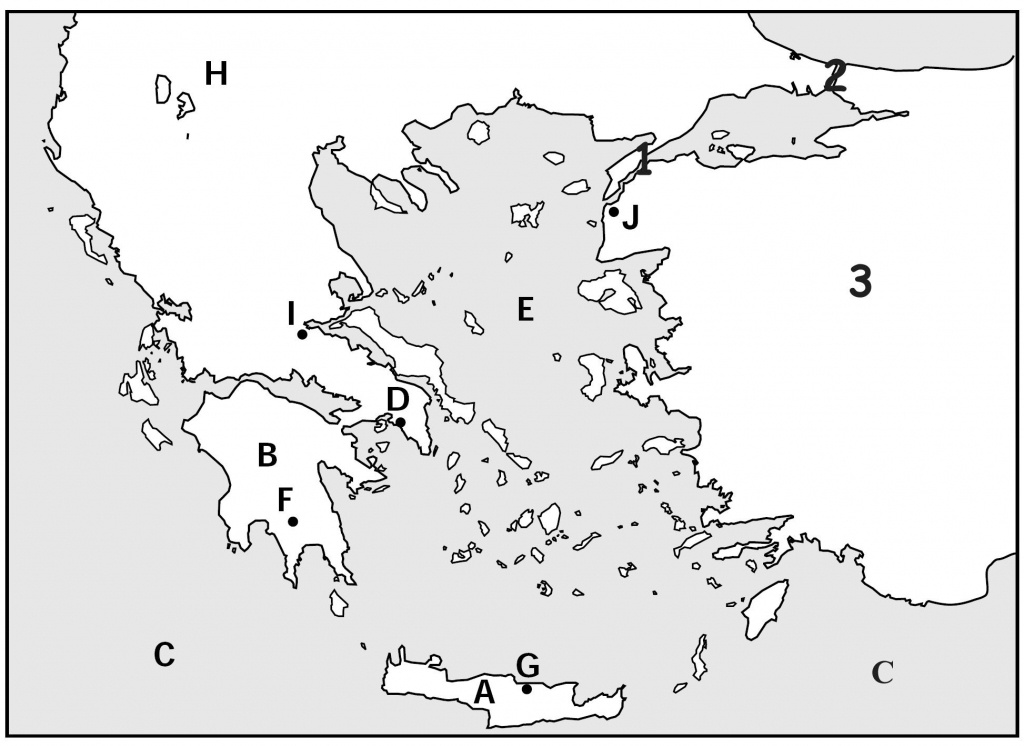 Map Quiz, Ancient Greeks For Kids   Homeschooling   Map Quiz - Outline Map Of Greece Printable