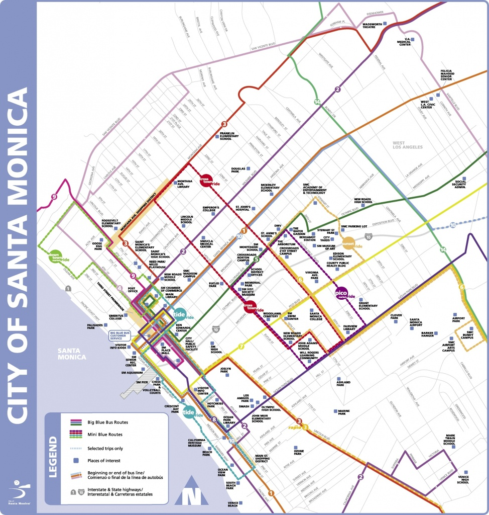 Map Reference. Santa Monica Map Of California – Reference California - Where Is Santa Monica California On A Map