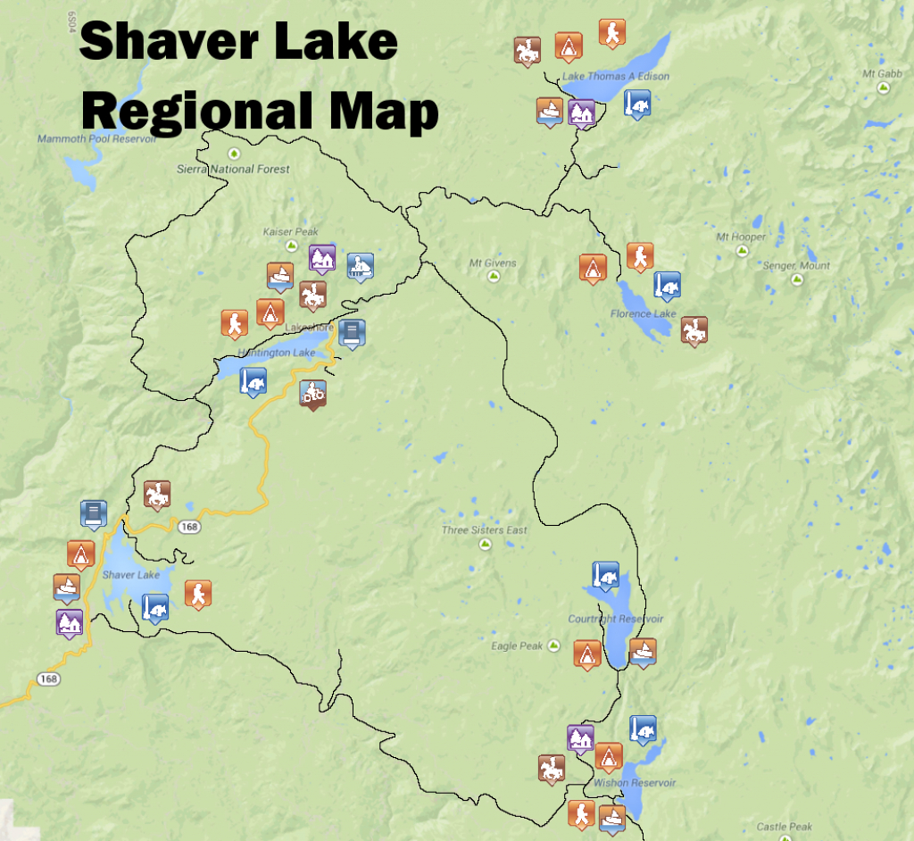 Map – Shaver Lake Visitors Bureau L Promoting California's Best Kept - Shaver Lake California Map