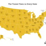 Map Shows The Tiniest Town In Every State In America - Luckenbach Texas Map