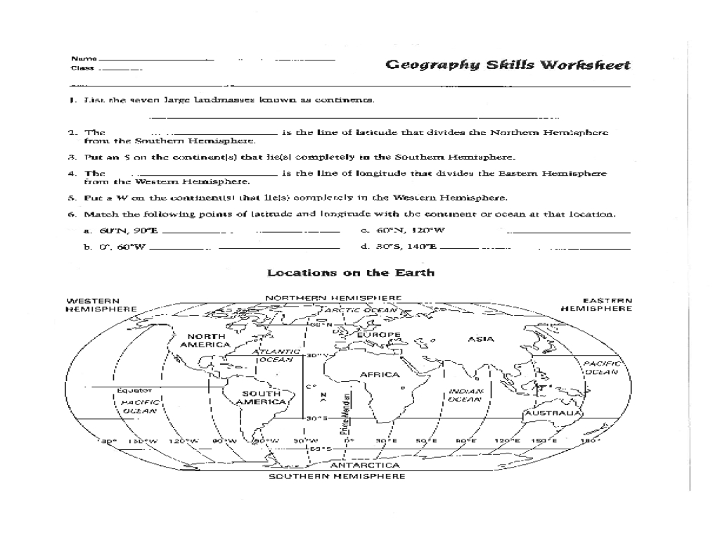 Map Skills Worksheet Pdf Fresh Best Solutions Of 6Th Grade Geography - 6Th Grade Map Skills Worksheets Printable