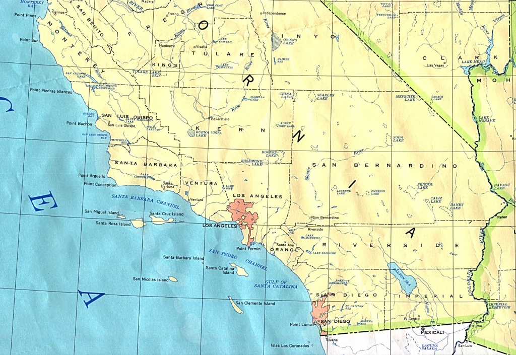 Map Socal And Travel Information | Download Free Map Socal - Southern California Fishing Map