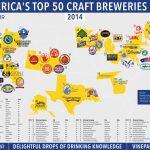 Map: The Top 50 U.s. Craft Breweries In 2014 | Vinepair   California Brewery Map