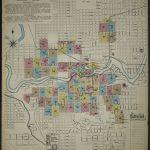 Map, Washington, Spokane | Library Of Congress   Downtown Spokane Map Printable