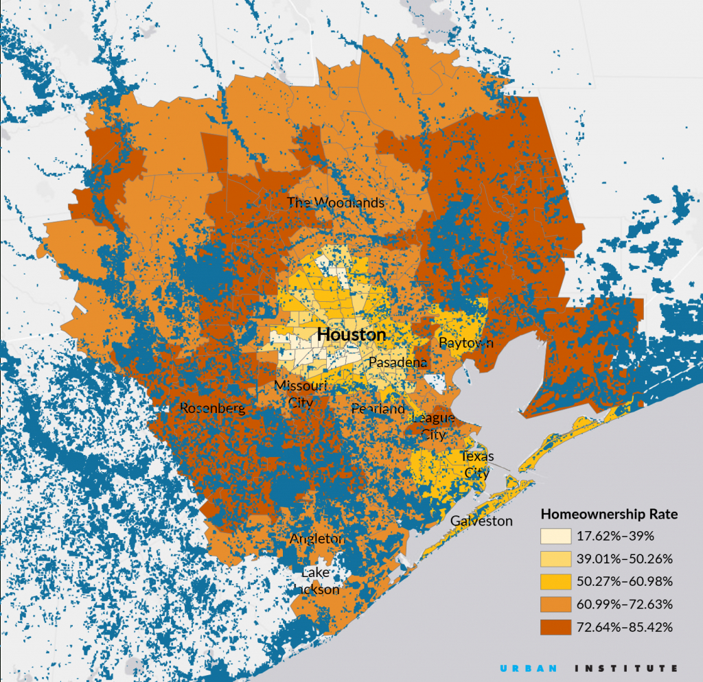 Mapping Harvey's Impact On Houston's Homeowners - Citylab - Map Of Flooded Areas In Houston Texas