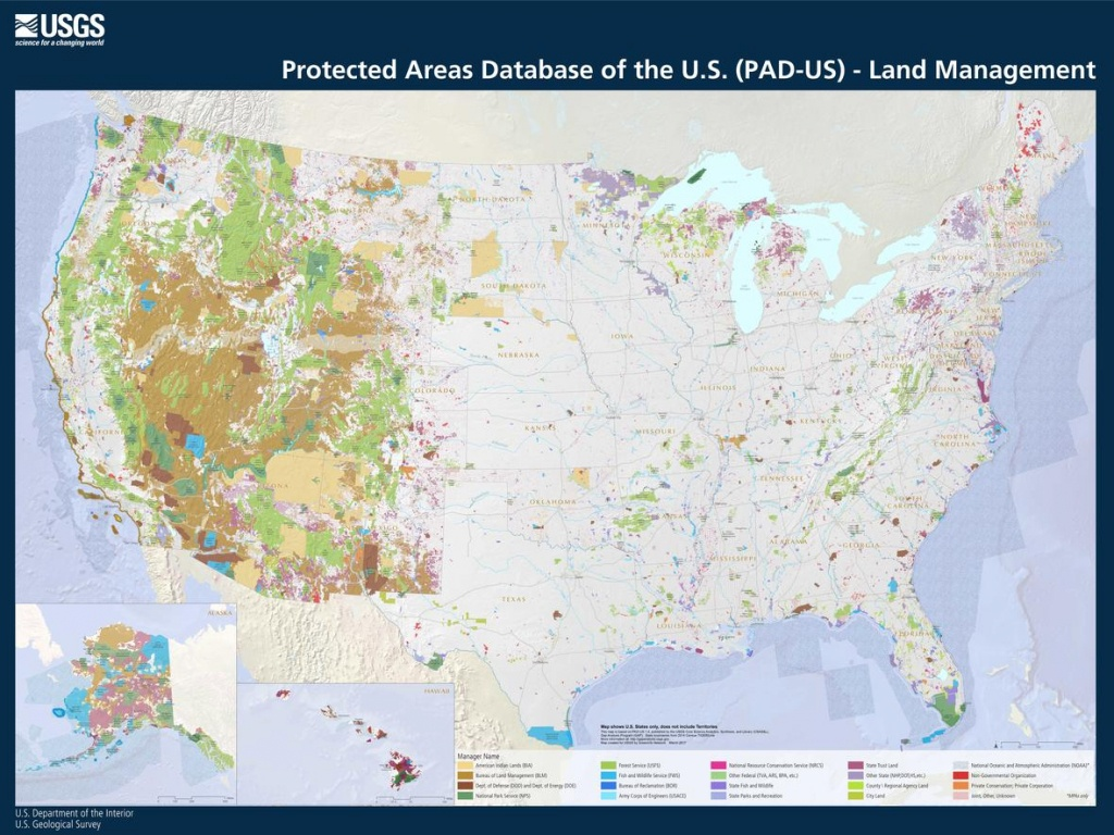 Mapping Public Lands In The United States - Usgs Printable Maps