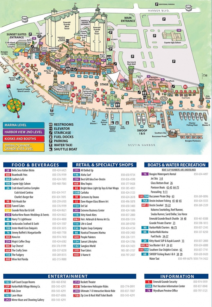 Maps And Directions   Emerald Grande Destin Vacation Rentals - Map Of Hotels In Destin Florida
