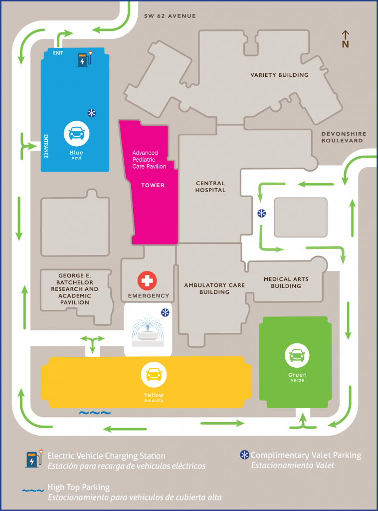 Maps And Floorplans | Nicklaus Children's Hospital - Florida Hospital South Map