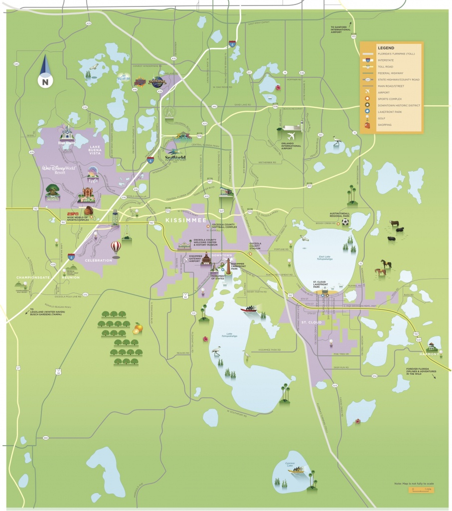 Maps & Area Guides | Experience Kissimmee - Tourist Map Of Orlando Florida