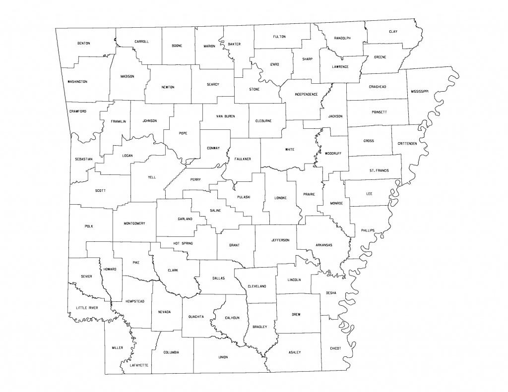 Maps - Arkansas Road Map Printable