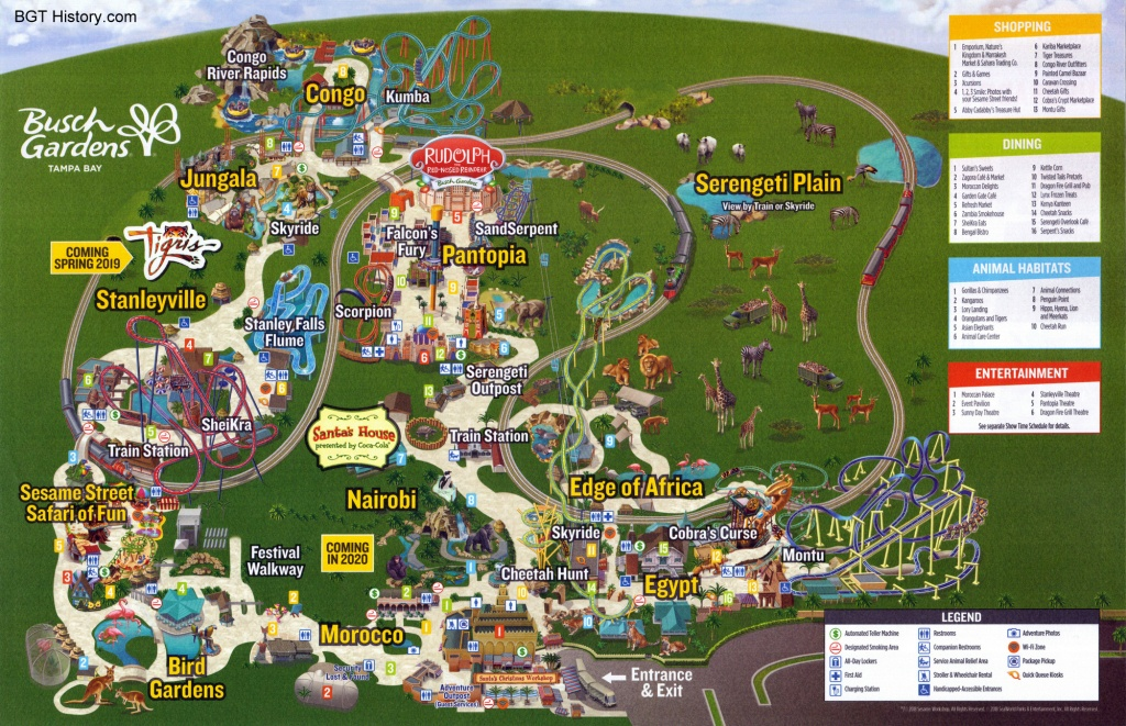 Maps - Bgt History - Busch Gardens Tampa History - Busch Gardens Florida Map