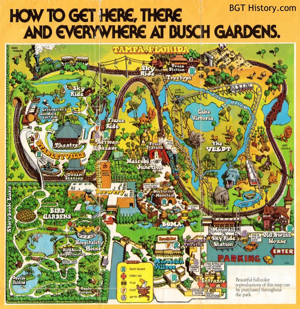 Maps - Bgt History - Busch Gardens Tampa History - Bush Garden Florida Map