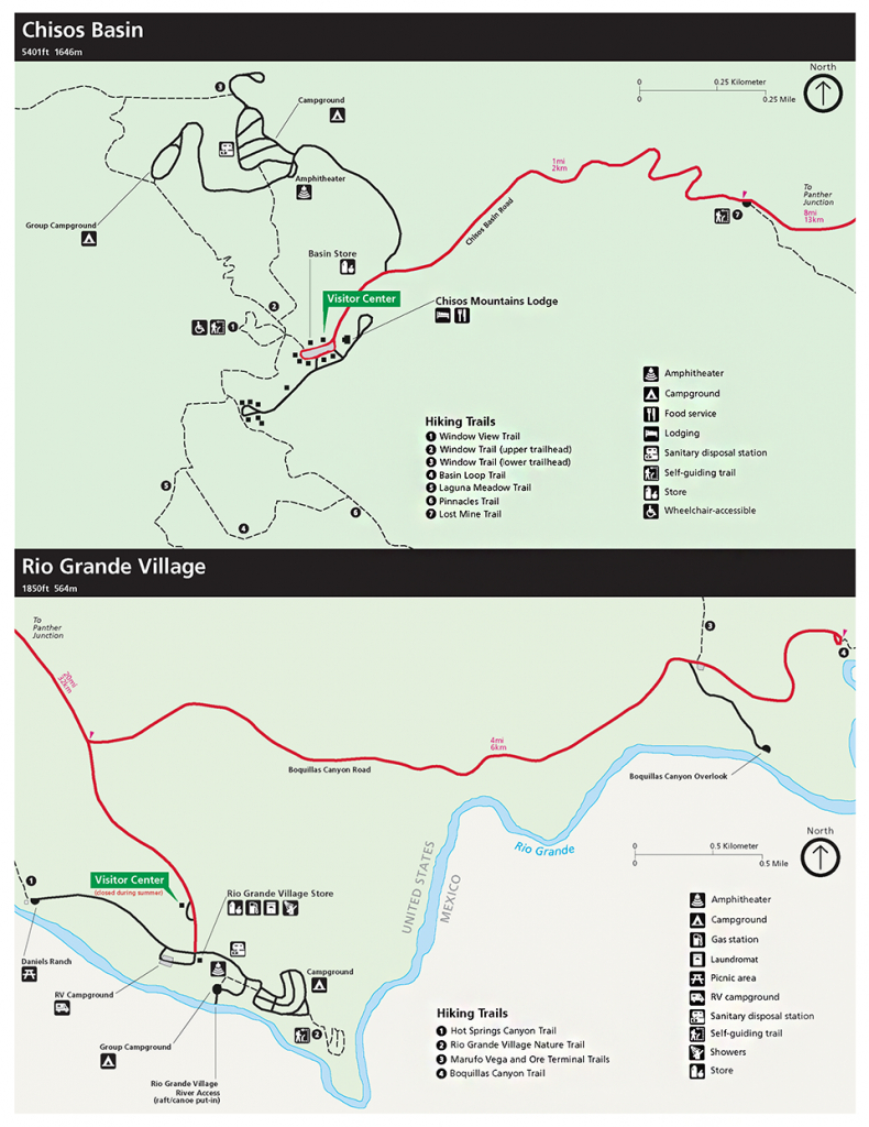 Maps - Big Bend National Park (U.s. National Park Service) - Map Of Big Bend Area Texas