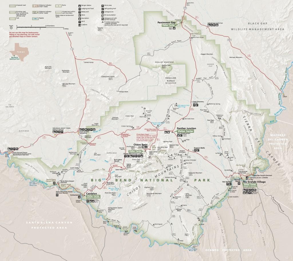 Maps - Big Bend National Park (U.s. National Park Service) - Texas Grand Ranch Map