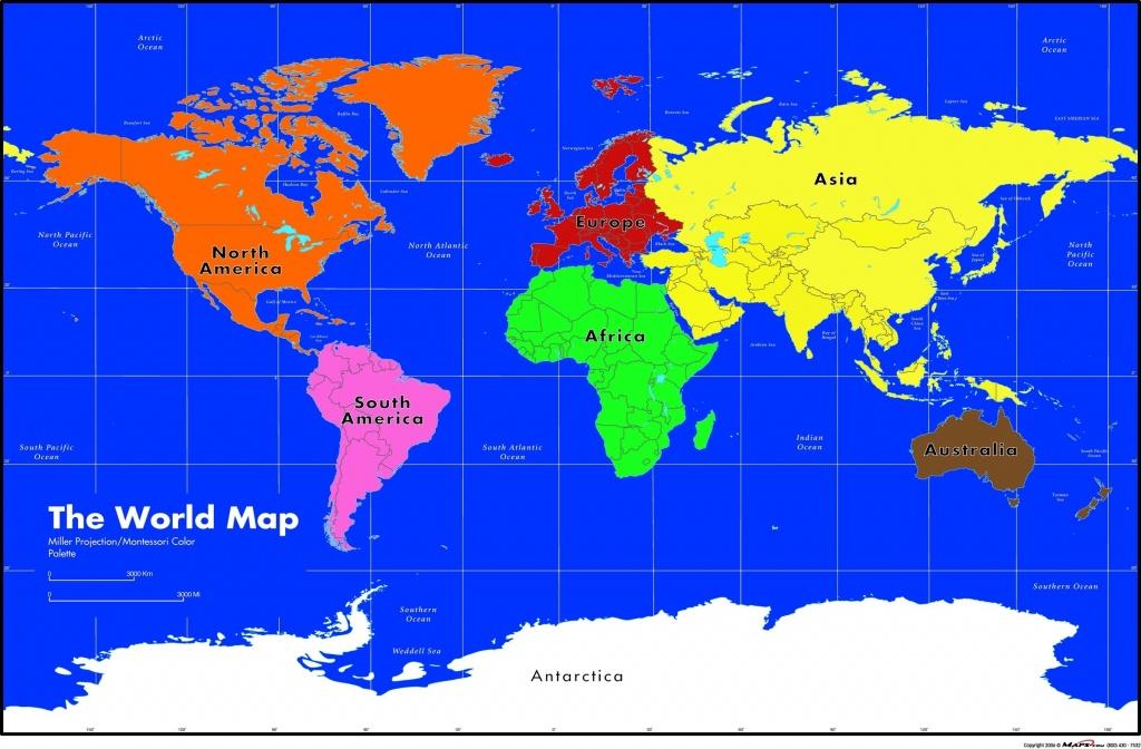 Maps Com Montessori World Wall Map Asia 1 - World Wide Maps - Montessori World Map Printable