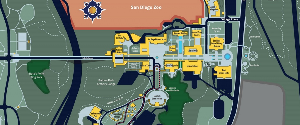 Maps & Directions | Balboa Park - Map Of Balboa Park San Diego California
