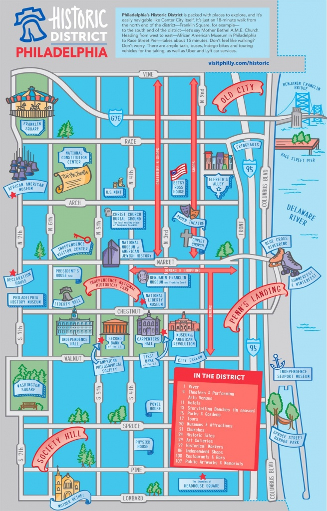 Maps & Directions - Philadelphia Tourist Map Printable