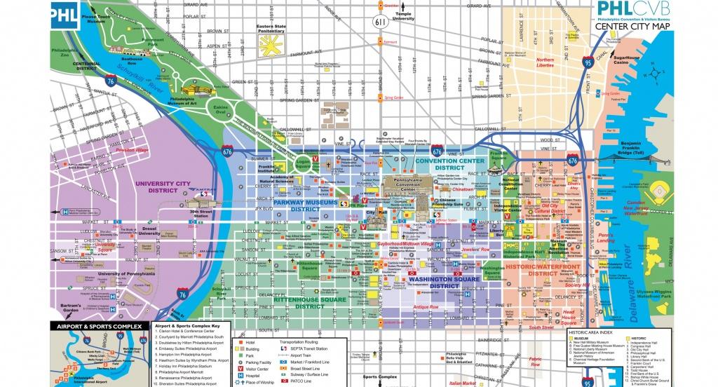 Maps & Directions - Printable Map Of Historic Philadelphia
