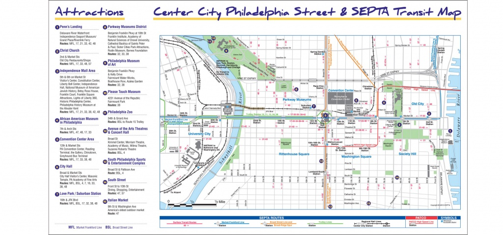 Maps & Directions - Printable Map Of Historic Philadelphia