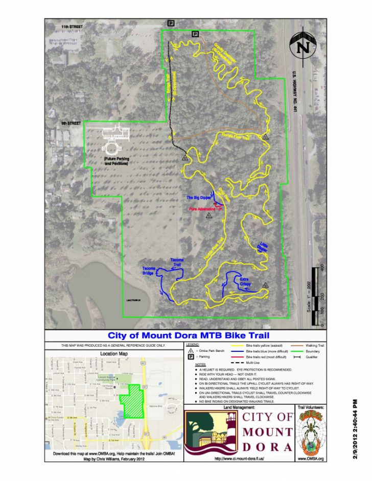 Florida Bicycle Trails Map