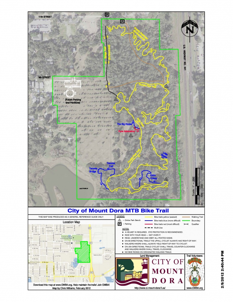 Maps - Florida Bicycle Trails Map