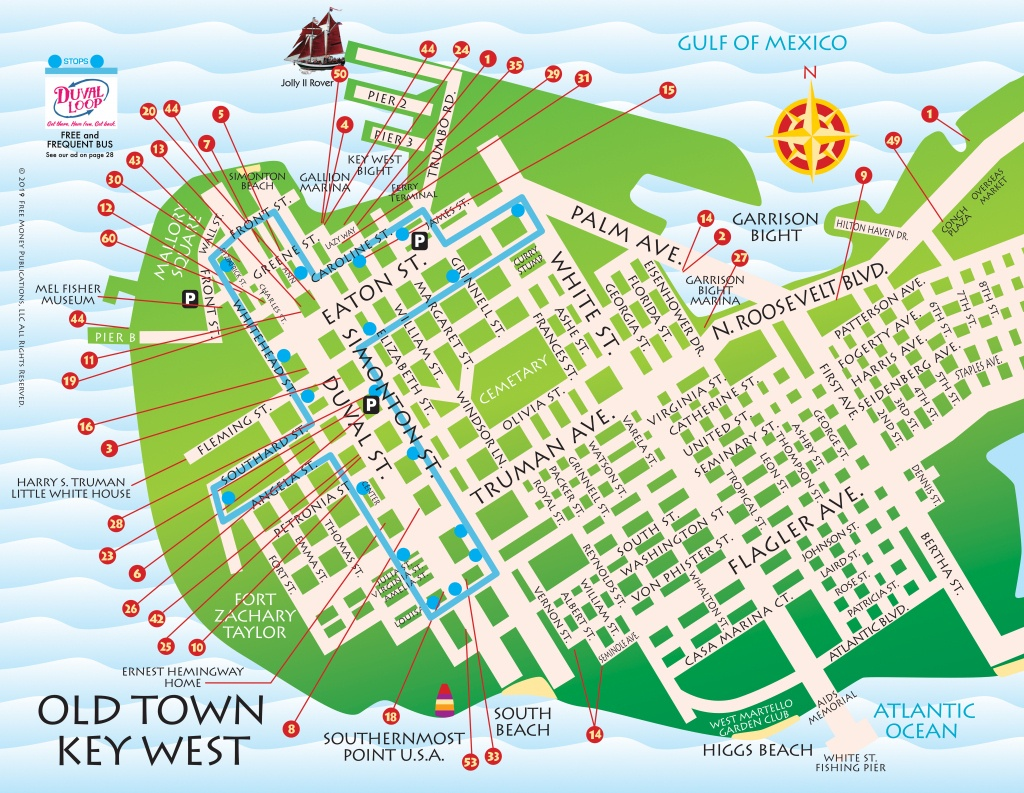 Maps, Key West / Florida Keys | Key West / Florida Keys Money Saving - Map Of Key West Florida Attractions