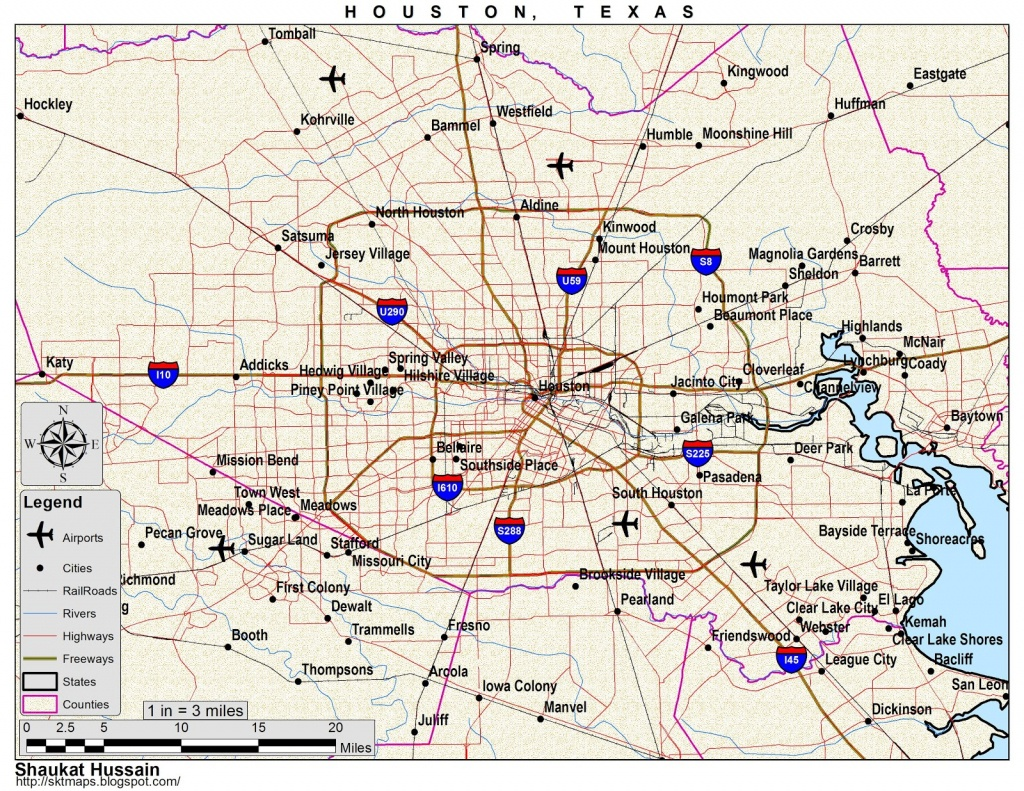Maps: Map Of Houston, Tx - Map To Houston Texas