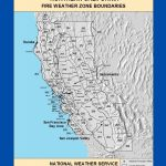 Maps Northern California Fire Weather Zone Boundaries New Map Inside   California Fire Zone Map