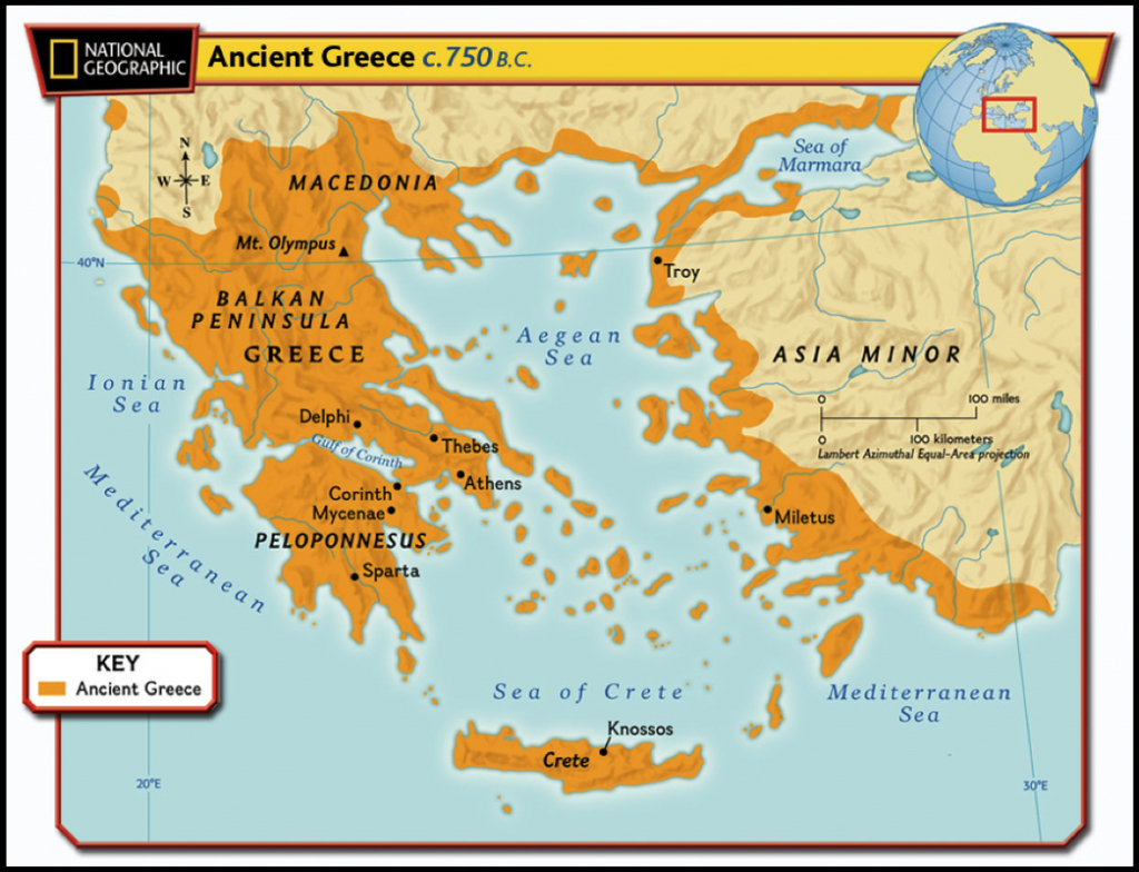 Maps Of Ancient Greece - 6Th Grade Social Studies - Map Of Ancient Greece Printable
