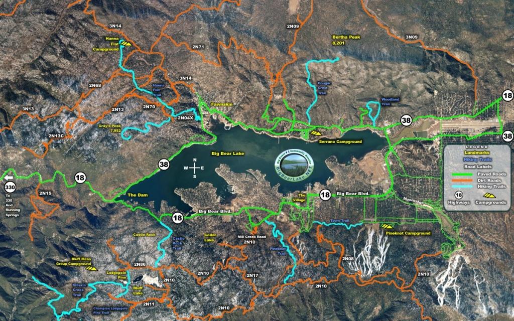 Maps Of Big Bear Valley - Big Bear Mountain Map California