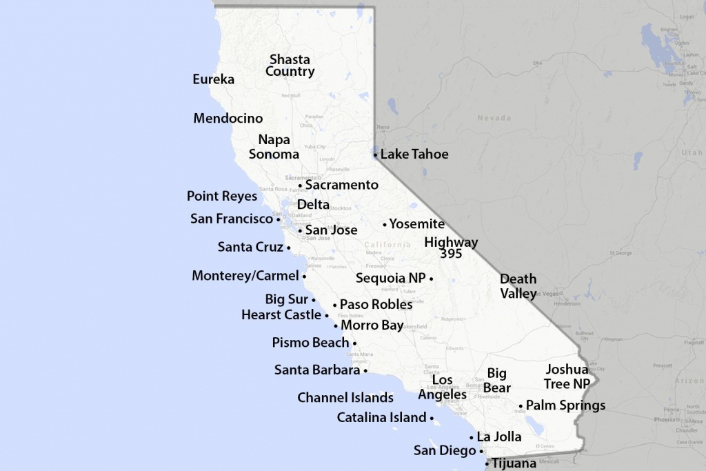 Maps Of California - Created For Visitors And Travelers - California Vacation Planning Map