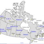 Maps Of Canada With Capital Cities And Travel Information Download   Printable Map Of Canada With Cities