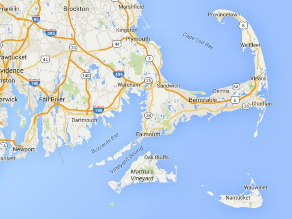 Maps Of Cape Cod, Martha's Vineyard, And Nantucket - Printable Map Of Cape Cod